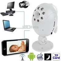 Cheap Wifi Point-to-point with Infrared Night Vision Light Record Monitoring for iOS and Android 2.3 above and Computer (White)