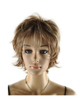 Cheap Cool2day Fashion Short Layered Natural Looking Synthetic Hair Full Wig+Free Wig Cap(Model:JF011304)