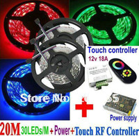 adapt control - M RGB SMD Leds M Waterproof IP65 Flexible Led Strip Light x5M RF Control Touch Remote LED RGB Strip Power supply adapt