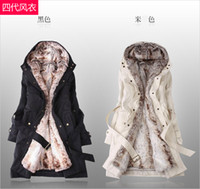 amazing clothes - Amazing Faux Fur Lining Women s Beige Fur Coats Winter Warm Long Coat Ladies coats winter warm long coat cotton clothes Drop Shipping