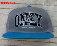 Wholesale ONLY Snapback Hats Only New York Peace Caps Cheap High Quality Hats Mix Order Grey Blue Hats ON SALE