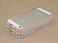 Snake Design buckle diamond bling metal bumper case for ipho...