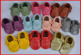 Wholesale fedex ems hot sale baby moccasins soft moccs baby shoes baby girl moccasin kids first walkers high quality Toddler shoes pc pairs melee