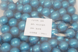 Wholesale Hot g Blue Pearl Round shaped Bath Oil Bath Beads Jasmine Flavor Coconut Oil