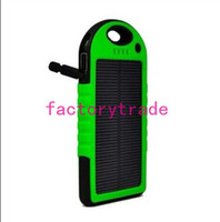 Wholesale HOT HOT Waterproof Solar power bank mah USB protable Solar Energy Panel Power Bank For Mobile cellhone PAD Tablet MP3 MP4