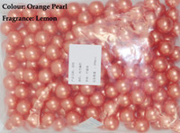 Wholesale Hot g Orange Pearl Round shaped Bath Oil Beads Lemon Fragrance Bath SPA Products Bath Pearls