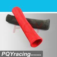 Wholesale J2 RACING STORE Universal Fiberglass Spark plug Heat Protector Sleeve sleeving fuel A C oil line wiring BLACK OR RED