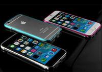 Wholesale Luxury Double Color Metal Aluminum Bumper Frame Case For iPhone Iphone S