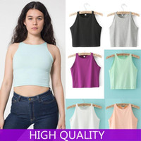 Cheap High Waist Crop Top Blusas Femininas 2014 Candy Color Women Tops Tank Top Casual Vest Women Vests Punk Clothing Cropped Tops