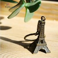 souvenir keychain - couple lovers key ring advertising gift keychain Alloy Retro Eiffel Tower key chain tower French france souvenir paris keyring