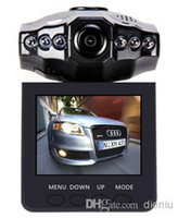 Wholesale 2 Car Dash cams Car DVR recorder camera system H198 night version Video Recorder dash Camera IR LED