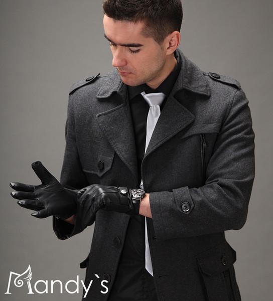 Black Leather Gloves For Men Men's Leather Gloves Black