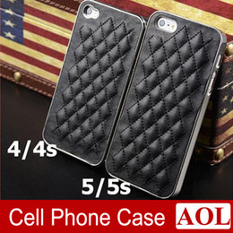 Wholesale Hot sell Deluxe Luxury Leather Chrome Snap On Hard Case Cover colors choose for iPhone s s