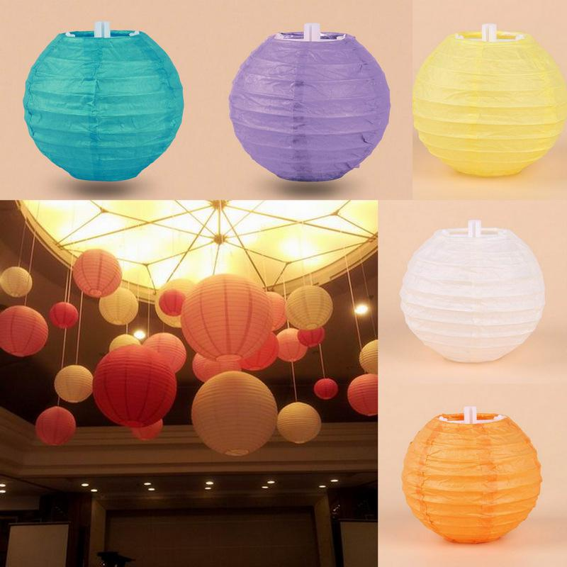 2017 Chinese Paper Lantern Christmas Wedding Party Celebration Diy Decoration 4 10cm Round