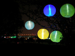 Wholesale Chinese Paper Lantern with LED Light Solar Energy Lights for Wedding Party Halloween Christmas Decoration Gifts Free DHL