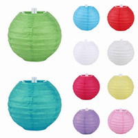 Wholesale Hot Sell Chinese Paper Lantern Wedding Party Christmas DIY Decoration Assorted quot cm Round Flying Lanterns ZWZ