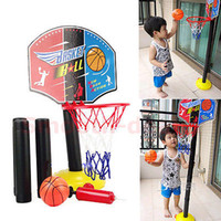 Cheap Free Shipping Indoor Outdoor Adjustable Mini Children Kid Basketball Play Set Sport Toy Game