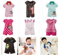 Wholesale Girl s Newborn Babywear Top QualityBodysuit Baby Shortalls Romper Baby One pieces Clothes Toddler Overalls Jumping Beans ZLM909H