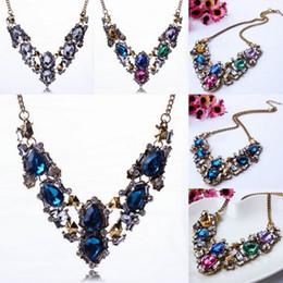 Wholesale Sexy Women Bubble Bib Statement Necklace Lady Rhinestone Jewelry Chokers Necklace For Party Colors Choose XL5657