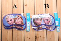 Wholesale 2014 New arrival Frozen Elsa Anna Kids Sleep Eye Mask Snow Queen Princess Children Vision Care Eye Masks Childs Boys Girls Home Eye Patch