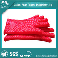 Wholesale Silicone Pot Holder Glove Oven Mitts Heat Insulation Oven Baking Gloves