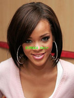 Wholesale Hot Bob Wigs Brazilian short human hair wigs For Black Women Front Lace Wigs Glueless Full Lace Wigs With Bangs Bleached Knots