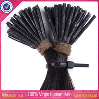 Cheap Brazilian virgin hair 16-26inch human hair keratin i tip hair extensions for the color #1b #2 #4 #60 #613 1g per strand stick tip hair