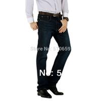 Wholesale Mens Jeans men Brand Plus Size Slim Fit Straight Leg Cotton Best Quality Size28 Inseam30 Autunm Winter Jeans