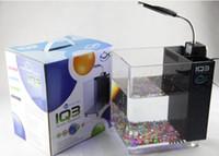 Wholesale mini desktop lamp light aquarium acrylic fish tank white black blue pink