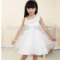 Cheap Model Pictures Girls formal dress Best Girl Beads Flower kids dresses