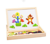 Wholesale 2014 new children s learning education drawing toys animal magnetism Puzzle creative designer paint wood board for kids c776 ok