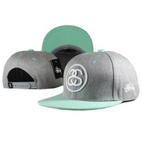 Wholesale Stussy Snapbacks Grey Hip Hop Hats New Sports Caps Boys and Girls Snap Back Hats Popular Headwears Cool Ball Caps for Sale