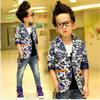 baby boy white cardigan - 2014 new arrival autumn blue and white porcelain male child jackets baby boy casual blazer outerwear fashionable cardigan years boys