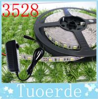 Wholesale Waterproof LED Strip Light CW WW Red Blue Green christmas lights light Lamp M Led SMD V A Power Transforme