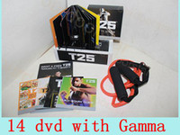 Wholesale DHL Focus T25 Fitness DVD Fast Shipment Shaun Crazy Potent Slimming Training Set Alpha Beta Gamma Core Speed T25 Workout