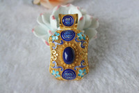Wholesale Natural Lapis lazuli Filigree cloisonne inlaid Pendant section CC