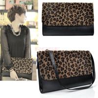 ladies fashion evening bags - Korea Style Women Fashion Clutch Purse Leopard Lady PU Leather Evening Bag
