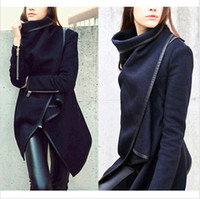 women winter warm long jacket - Fashion Women Winter Coat Warm Long Trench Windbreaker Parka Outwear Jacket Navy Blue S XL DH04