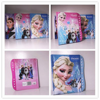 Wholesale Frozen Notebook Student Writting Diary Notebook Frozen Elsa Frozen Anna Book Student Notepad with Password School Learning Supplies FZ61