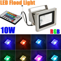 Wholesale Decoration Kind Color Changing Remote RGB LED Floodlight W AC85 V IP65 Waterproof Aluminum COB led lights for Indoor and Outdoor