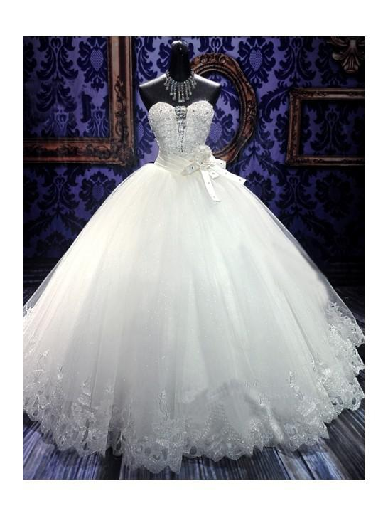 Crystal lace sweetheart vintage wedding dresses 2014 for Vintage wedding dresses nyc