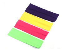 Wholesale 2015 High quality Stretch Headband Sports Sweat Head Wrap Unisex good Stretch MIX COLOR