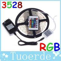 led strip light - 5m non Waterproof RGB LED Strip Light Lamp christmas lights M Led SMD k IR Remote Controller V A Power Transforme