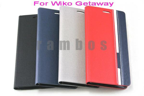 Folio pu leather mobile phone case cover housse etui for for Housse telephone wiko