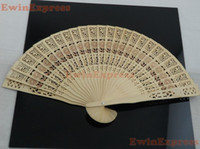 Bamboo Wood antique chinese wood carving - Arts Crafts Gifts x New Vintage Japanese Chinese Folding Floral Bamboo Wood Hand Fan