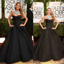 Wholesale 2014 New Sofia Vergara Celebrity Dresses With Sweetheart Ruffles Backless A Line Sweep Train Evening Gowns On th Golden Globe Red Carpet