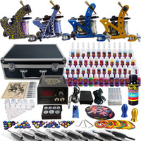 Beginner Kit tattoo kits - Sale Tattoo Kit Beginner Machine Gun Power Supply tattoo kit grip TK453