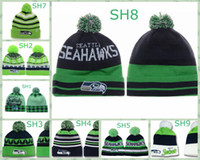 Wholesale 2014 Seahawks Beanies Football Beanie Hats Knitted Caps for Men Women Fashion Autumn Caps Warm Winter Hats Top Team Beanies Many Patterns