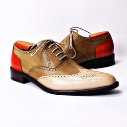 Men Dress shoes Oxfords shoes Men's shoes Custom handmade shoes Genuine calf leather wingtip brogue shoes HD-213