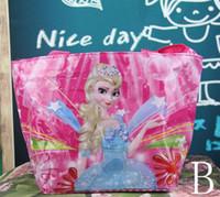 peppa pig - Fashion FROZEN PEPPA PIG Princess Cartoon handbag Elsa Lady bag Shoulder Bag girls woman bag Shopping bag waterproof bag EMS Free